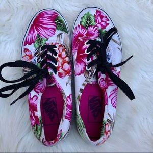 Vans Shoes - Vans Dark Floral Low Top Shoes